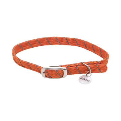 Safety Stretch Collar - Orange w/ Charm