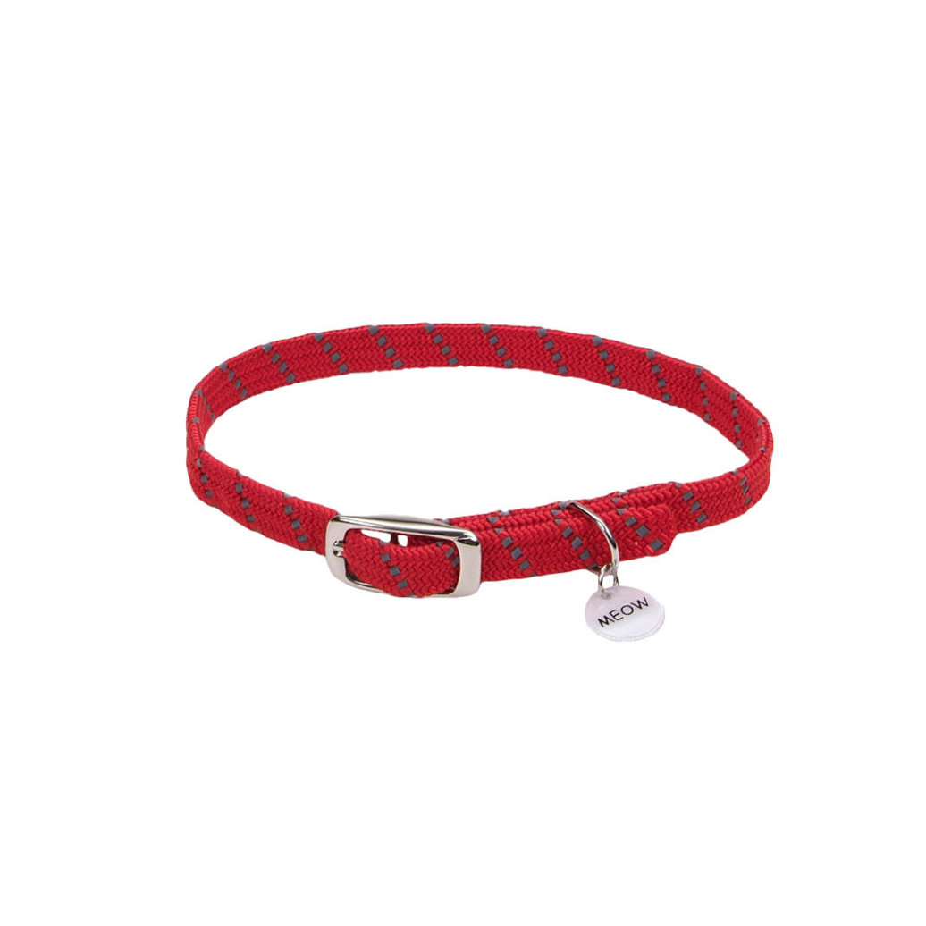 View larger image of Safety Stretch Collar - Red w/ Charm