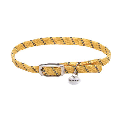 Safety Stretch Collar - Yellow w/ Charm
