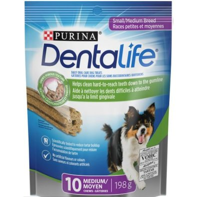 Daily Oral Care Dental Dog Treats for Small & Medium Breed Dogs - 198 g
