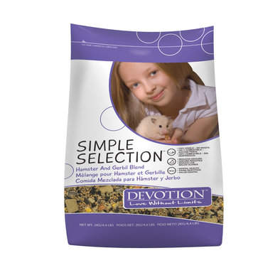 Simple Selection, Hamster and Gerbil Diet - 2 kg