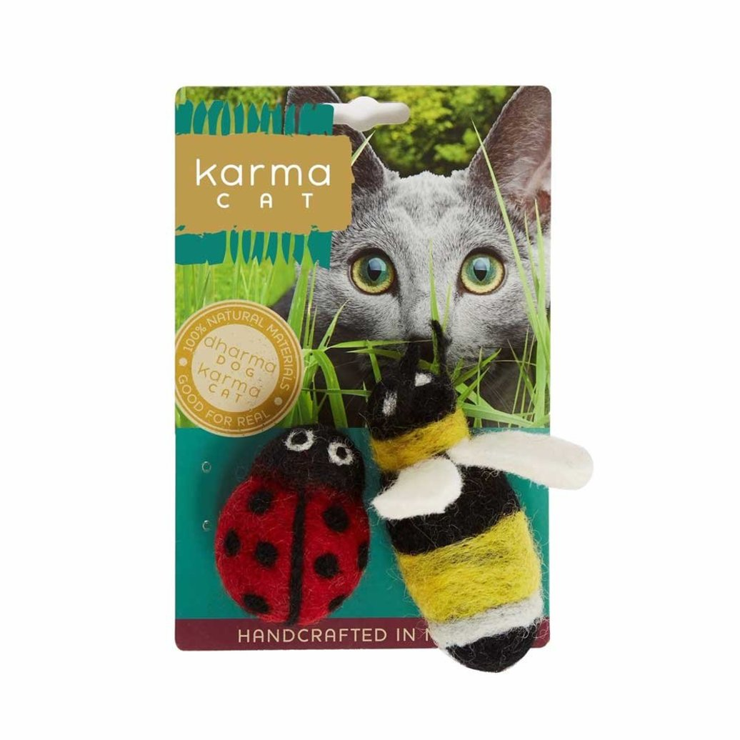 View larger image of Wool Pet Toy - Ladybug & Bee - 2 pk