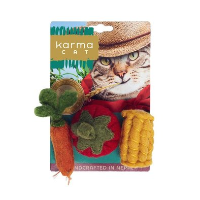Wool Pet Toy - Vegetables - 3 pk