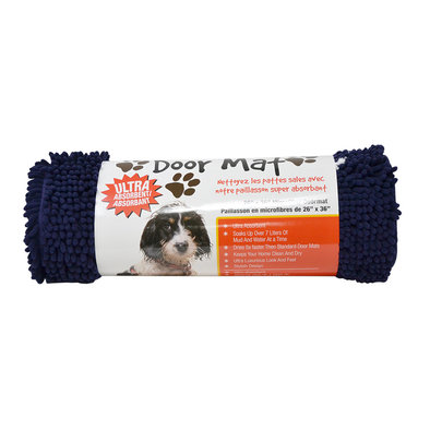 Dirty Paws, Doormat - Blue - 36x26""