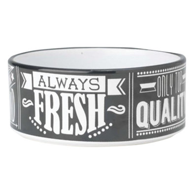 Dog Bowl, Daily Menu Chalkboard Blk/Wht - 2CP