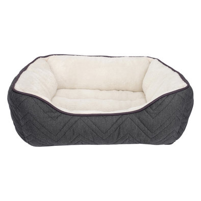 """Dreamwell Rectangle Cuddle Bed - Grey & White - 24"""""""