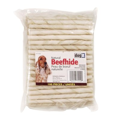 Rawhide, White Chew Sticks - 100 Pk - 5""
