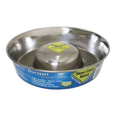 Stainless Steel Slow Feed Bowl