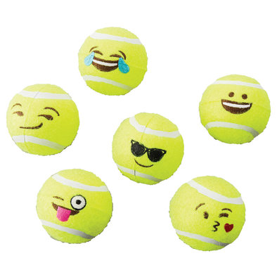 Emoji Tennis Ball - 6 Pack - 5""