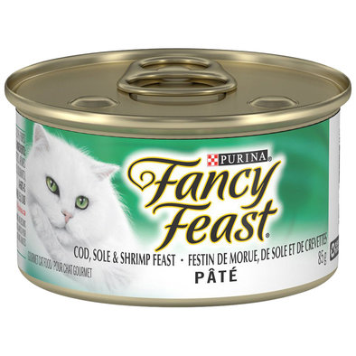 Paté Cod, Sole & Shrimp Feast Wet Cat Food - 85 g