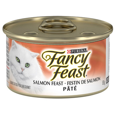 Paté Salmon Feast Wet Cat Food - 85 g