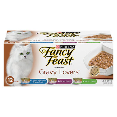 Gravy Lovers Wet Cat Food Variety Pack - 85 g, 12 pk
