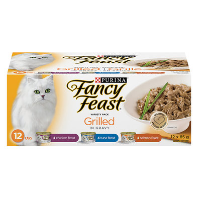 Grilled Wet Cat Food Variety Pack - 85 g, 12 Pk