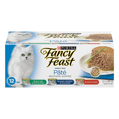 Pâté Seafood Supper Wet Cat Food Variety Pack - 85 g, 12 Pk