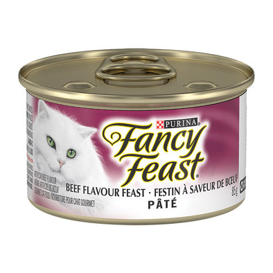 Paté Beef Flavour Feast Wet Cat Food - 85 g