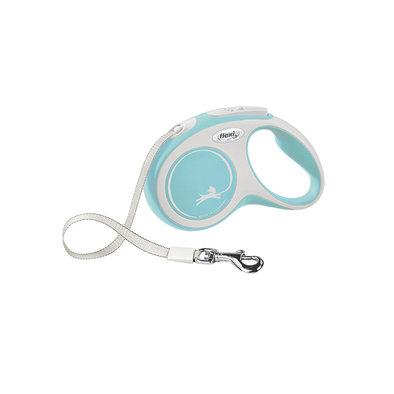 Comfort Tape Leash - Blue - Small - 5 m