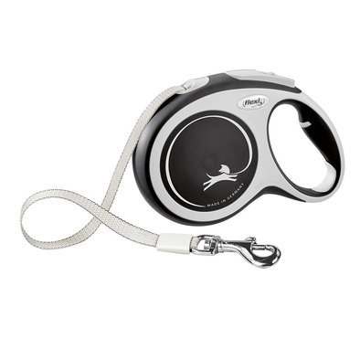 Comfort Tape Leash - Grey - Large - 8 m