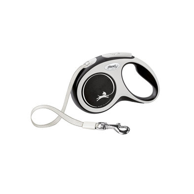 Comfort Tape Leash - Grey - 5 m