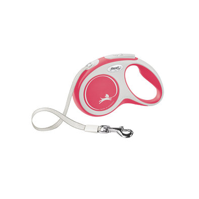 Comfort Tape Leash - Red - 5 m