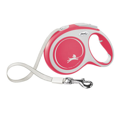 Comfort Tape Leash - Red - Large - 8 m