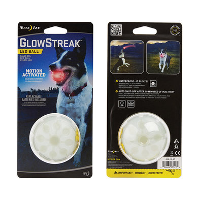Glowstreak Led Ball - Red