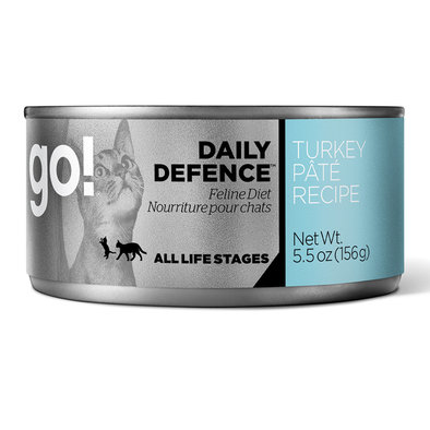 Daily Defense, Canned Cat Food, Turkey Pate - 5.5 oz