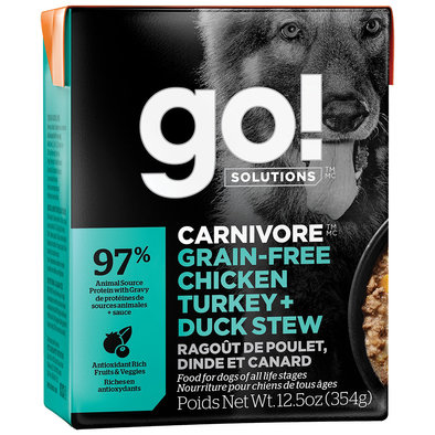 CARNIVORE Grain Free Chicken, Turkey + Duck Stew for dogs