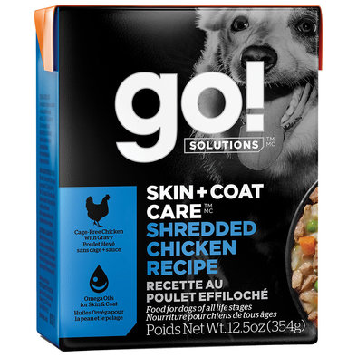 SKIN + COAT CARE Shredded Chicken Recipe for dogs