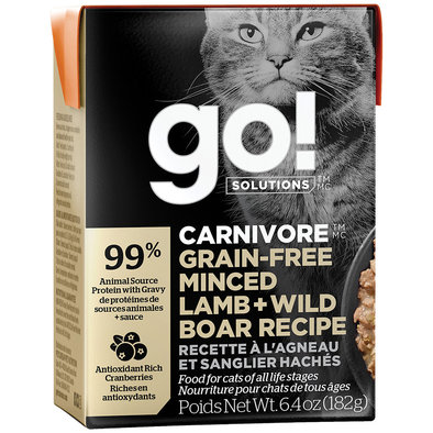 CARNIVORE Grain Free Minced Lamb + Wild Boar Recipe for cats