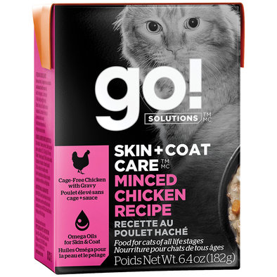 SKIN + COAT CARE Minced Chicken Recipe for cats