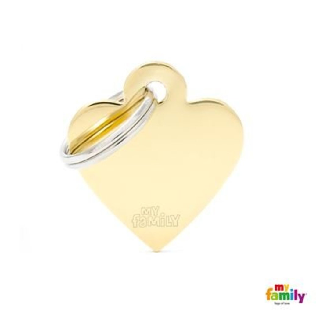 View larger image of Golden Heart - Brass - Small