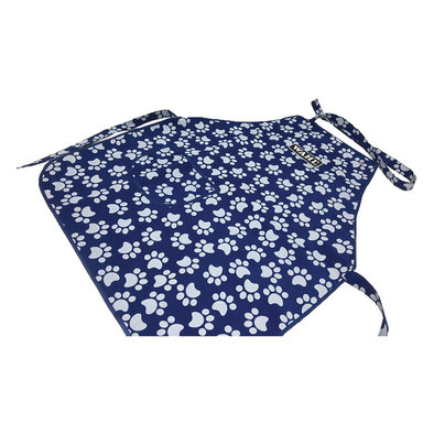 Grooming Apron - Navy & White Puppy Paws