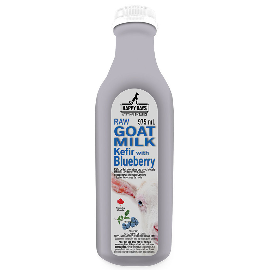 View larger image of Happy Days Dairy , Raw  Goats Milk Kefir with Blueberries - 1 L