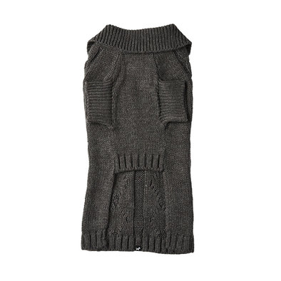 Cable Knit Cardigan - Charcoal Mix