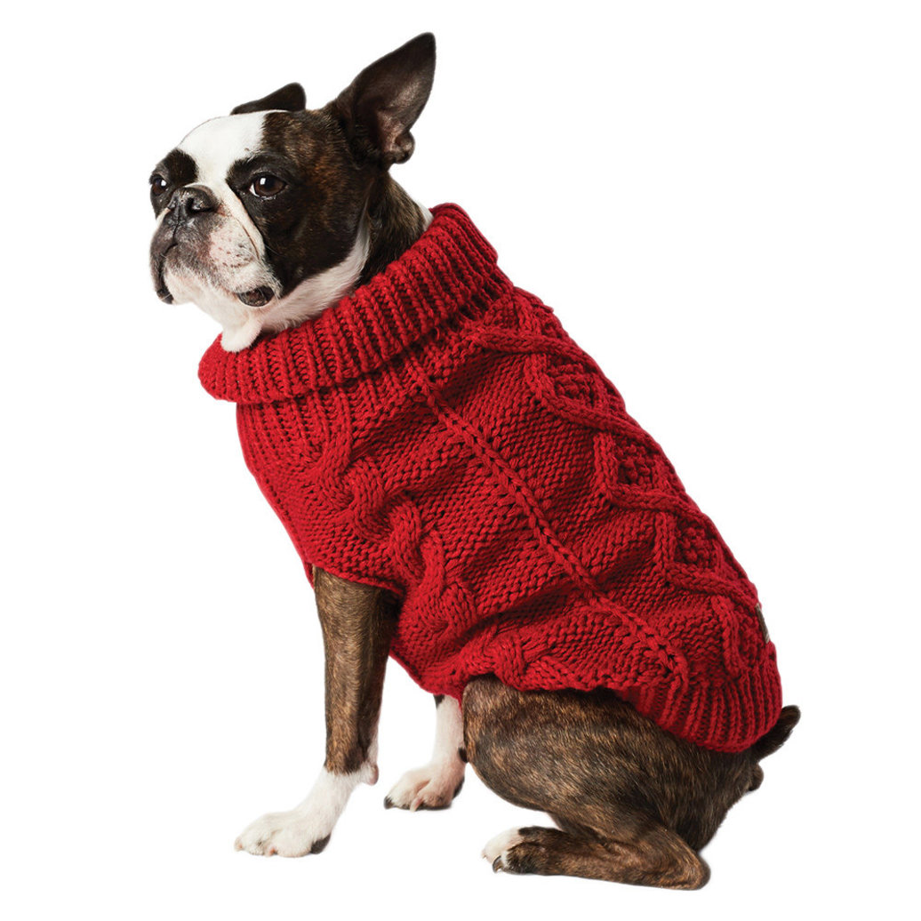 View larger image of Cable Sweater - Cranberry Red