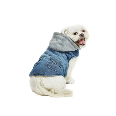 Hooded Vest - Blue Denim