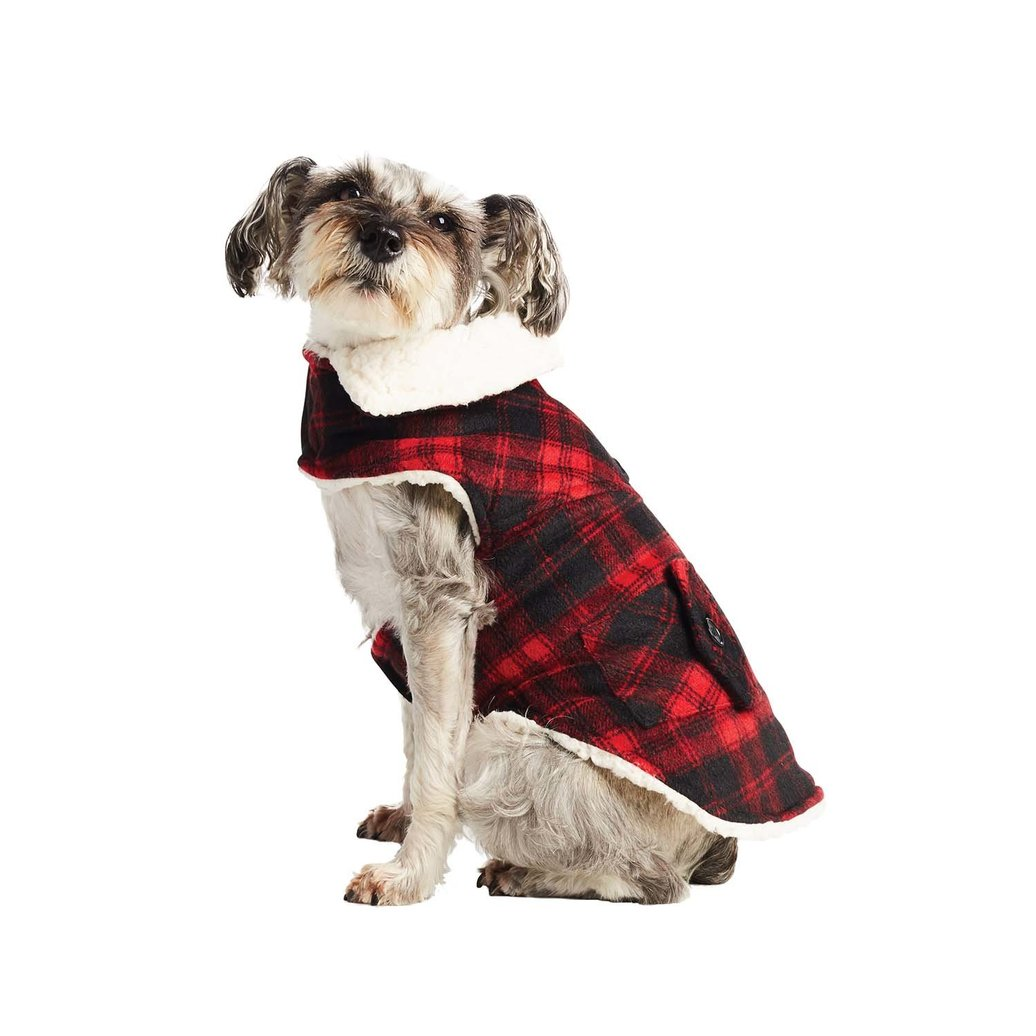 View larger image of Melton Coat Plaid - Cranberry Red