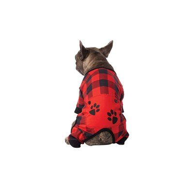 Onesie - Buffalo Check w/ Paws