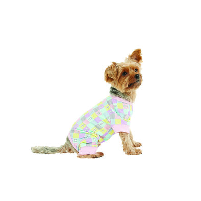 Onesie - Checkered AOP - Candy Pink