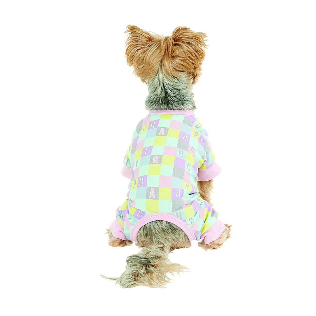 View larger image of Onesie - Checkered AOP - Candy Pink