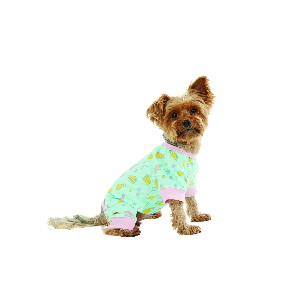 View larger image of Onesie - Let's Paw-ty - Blue Light