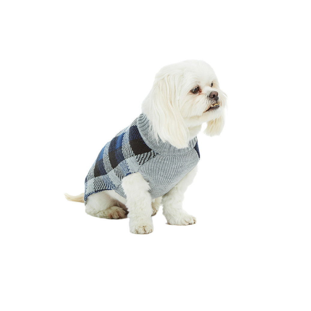 View larger image of Plaid Sweater - Blue Depth