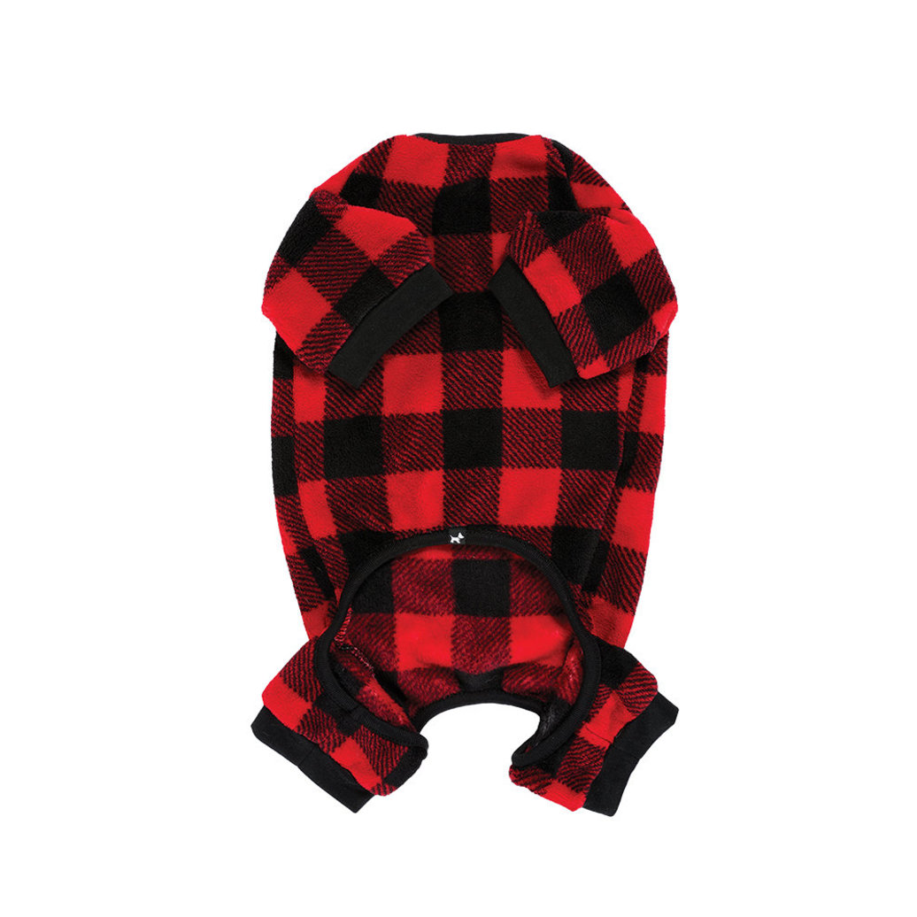View larger image of Plush Onesie - Buffalo Plaid - Cranberry Red
