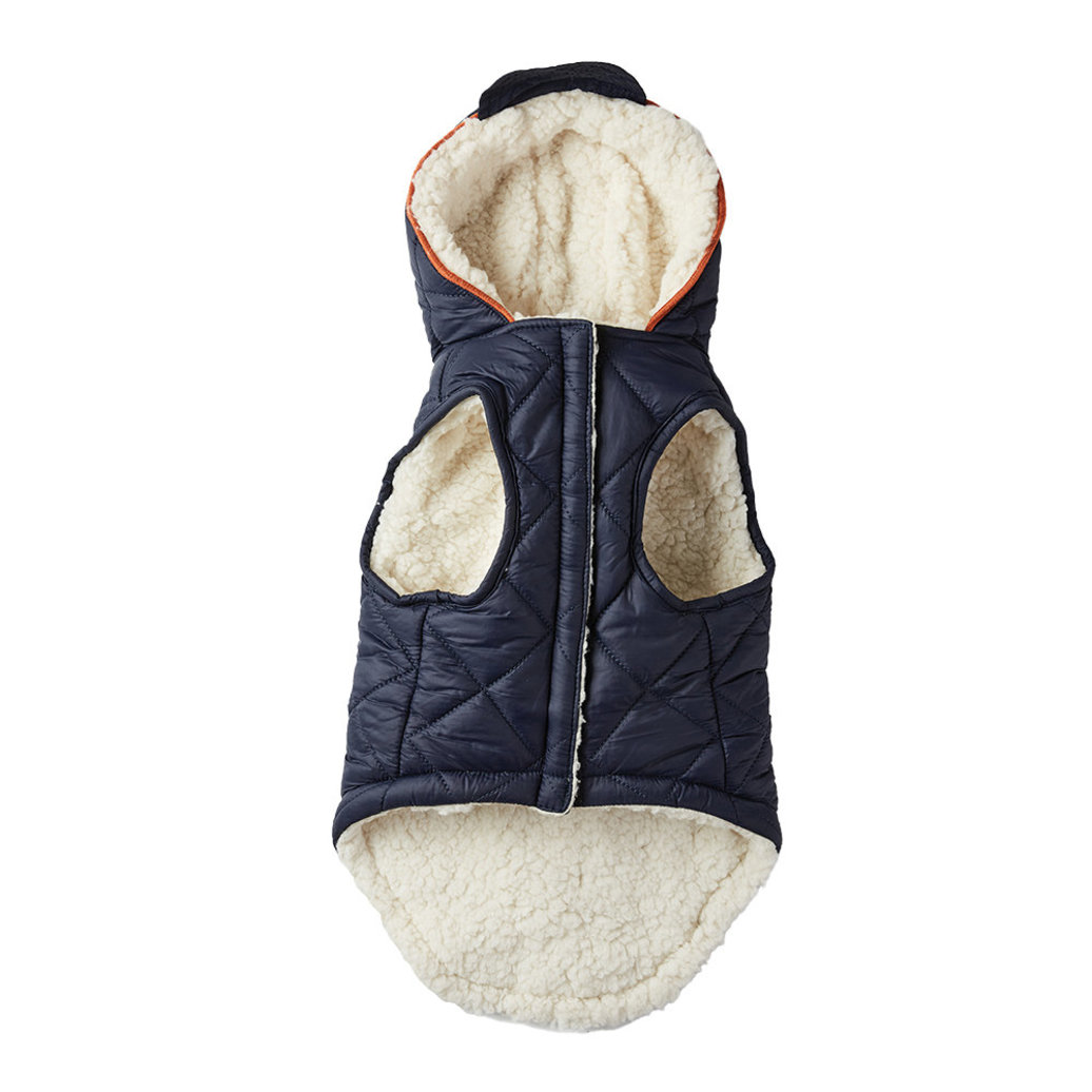 View larger image of Quilted Hoodie Coat - Blue Nights