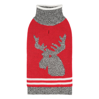 Roll Neck Moose - Red