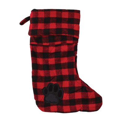 Stocking - Buffalo Check - Cranberry