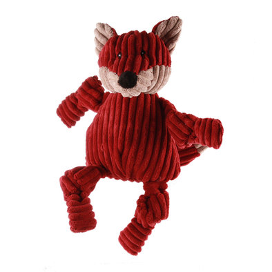 Corduroy Sock Knottie Fox - Maroon/Tan - Large