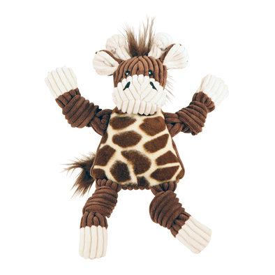 Corduroy Sock Knottie Giraffe - Brown/White - Small