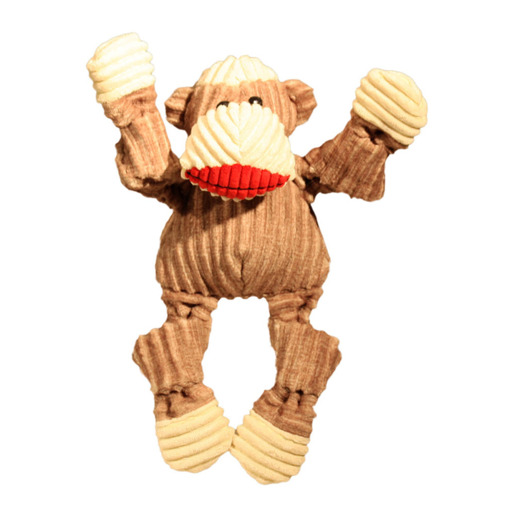 View larger image of Corduroy Sock Knottie Monkey - Tan & Red