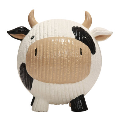Ruff-Tex Cow Knottie - White/Black - Large